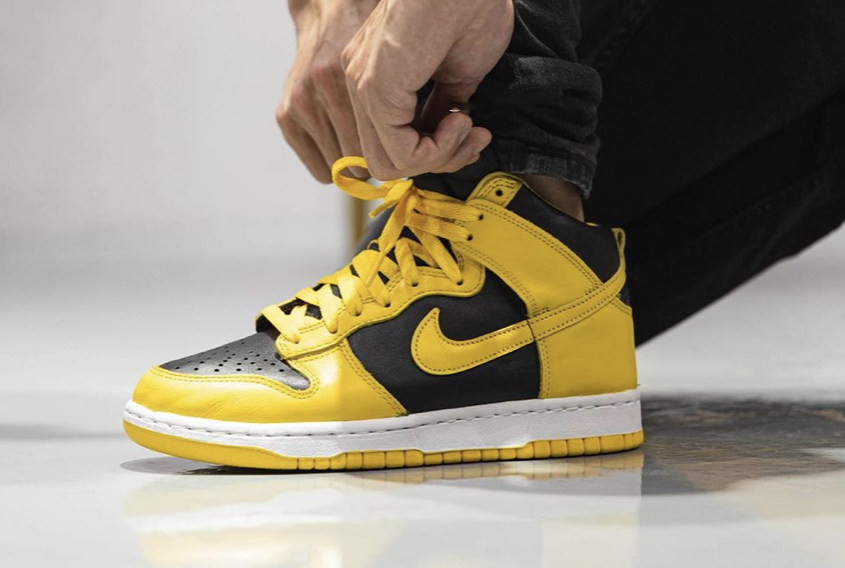 Nike Dunk High Varsity Maize CZ8149-002 On Feet