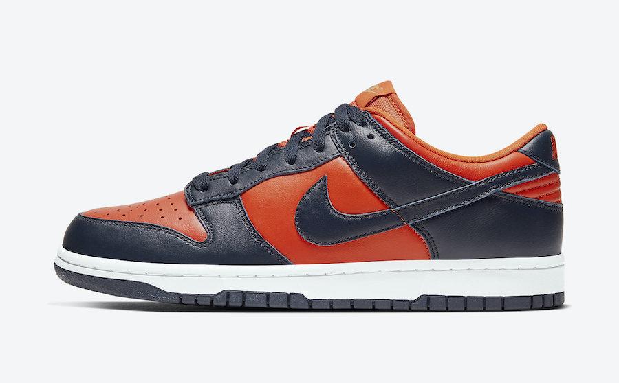 Nike Dunk Low Champ Colors University Orange Marine CU1727-800 Release Date