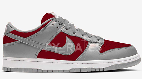 Nike Dunk Low Grey Varsity Red 2021 Release Date
