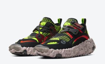 Nike ISPA OverReact Black Volt Crimson CD9664-001 Release Date Info