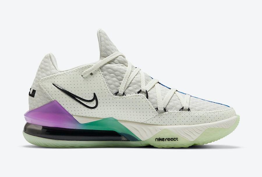 Nike LeBron 17 Low Glow in the Dark Pastel Gradient CD5007-005 Release Date Info