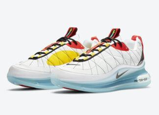 Nike MX 720-818 White Red Yellow Black CV4199-100 Release Date Info