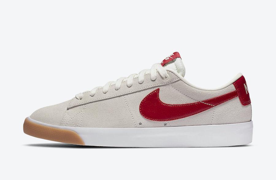 Nike SB Blazer Low GT Cardinal Red 704939-105 Release Date Info