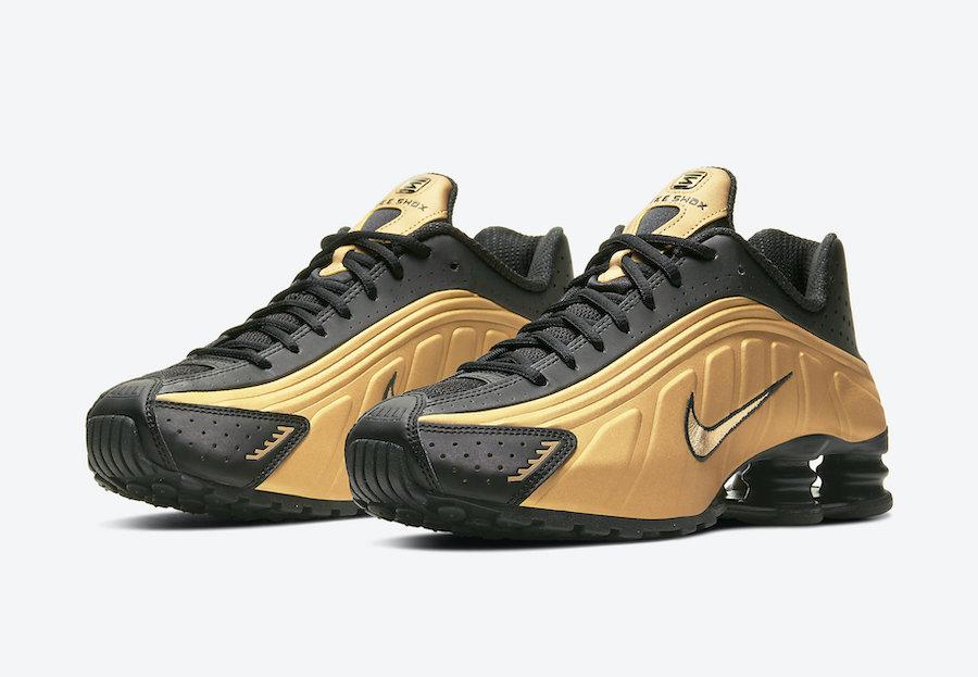 Nike Shox R4 Metallic Gold Black 104265-702 Release Date Info