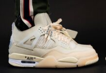 Off-White Air Jordan 4 CV9388-100 On Feet