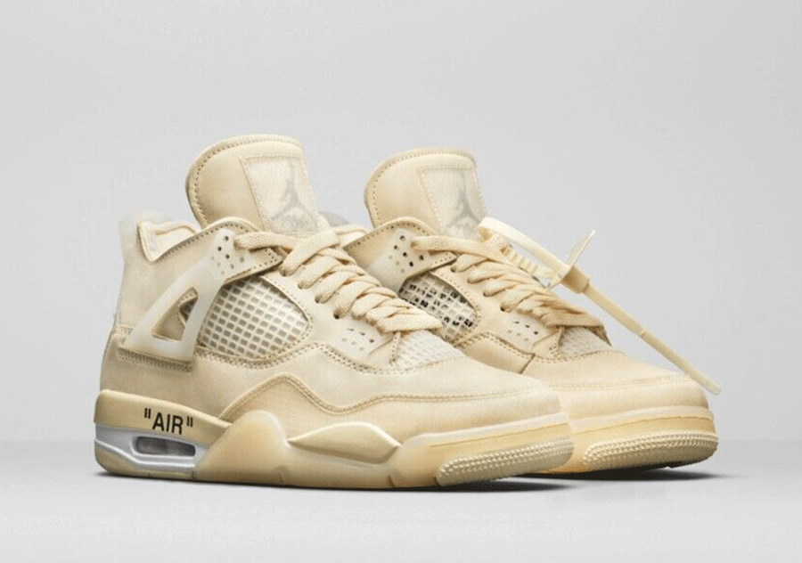 Off-White Air Jordan 4 Sail CV9388-100 Release Info Price