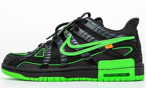 Off-White Nike Air Rubber Dunk Green Strike Release Date