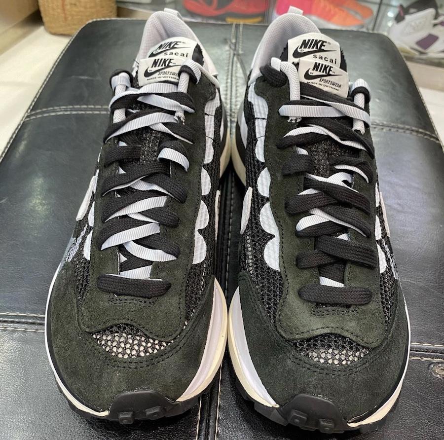 sacai Nike VaporWaffle Black White CV1363-001 Release Date