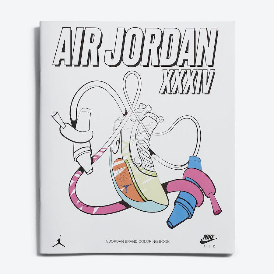 Zion Williamson Air Jordan 34 Coloring Book DA1897-100 Release Date Info