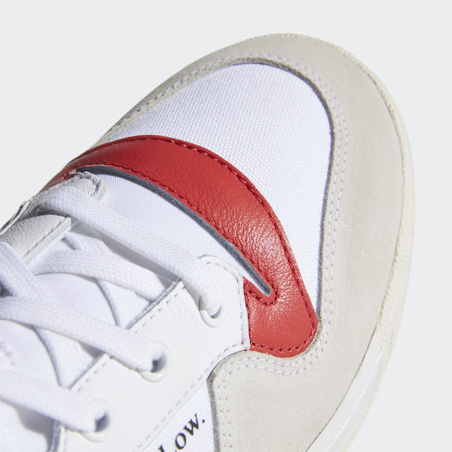adidas Rivalry Low White Glory Red EF6418 Release Date Info