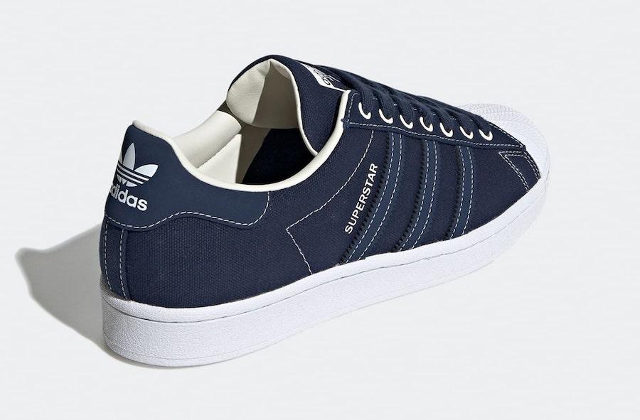 adidas Superstar Canvas Blue FW2652 Release Date Info