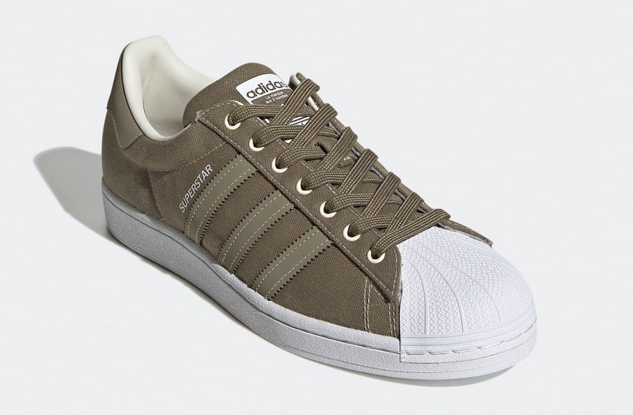 adidas Superstar Canvas Olive FW2653 Release Date Info