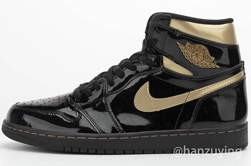 Air Jordan 1 Black Metallic Gold Patent Leather Release Date