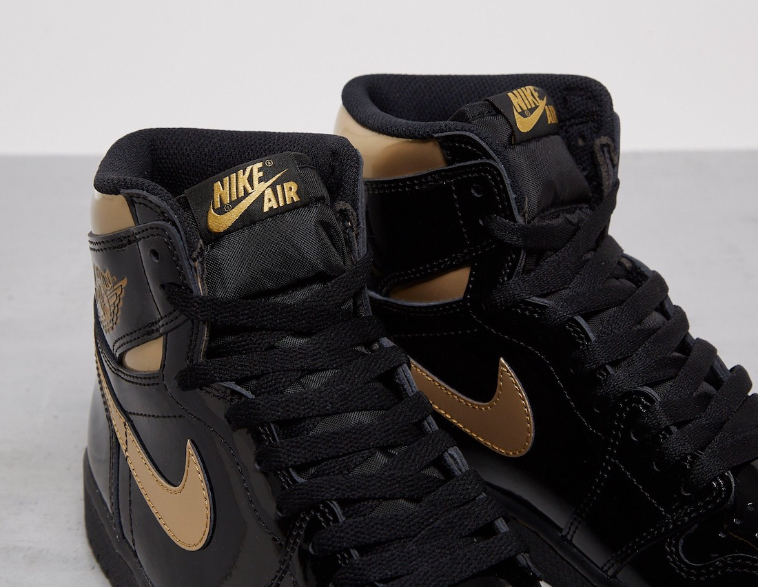 Air Jordan 1 High OG Black Gold 555088-032 Release Date