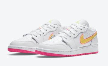 Air Jordan 1 Low GS White Pink Yellow Volt CV4610-100 Release Date Info