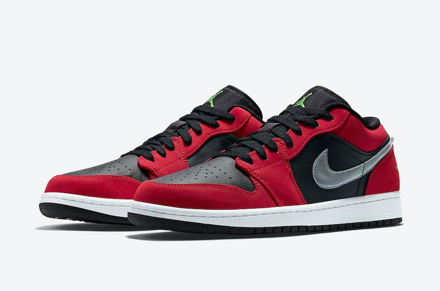 Air Jordan 1 Low Gym Red Green Pulse 553558-036 Release Date Info