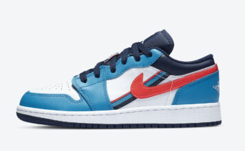 Air Jordan 1 Low White Blue Crimson CV4892-100 Release Date Info