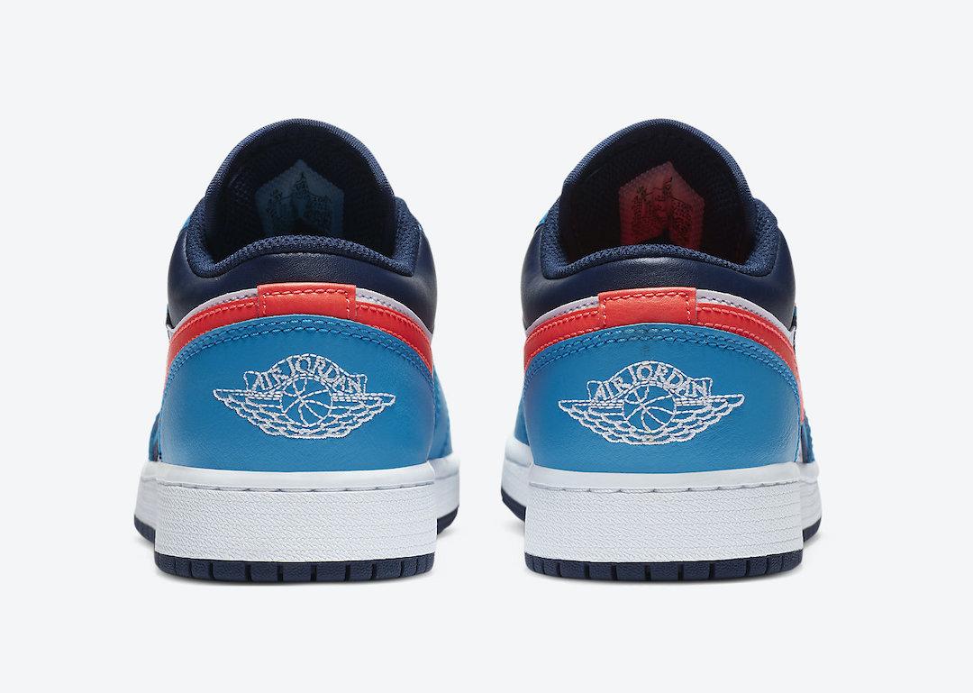 Air Jordan 1 Low White Blue Crimson CV4892-100 Release Date Info
