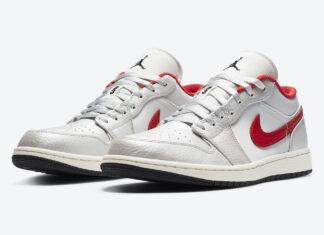 Air Jordan 1 Low White Red DA4668-001 Release Date Info