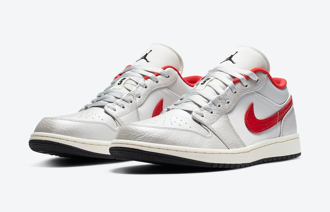 Air Jordan 1 Low White Red DA4668-001 Release Date Info