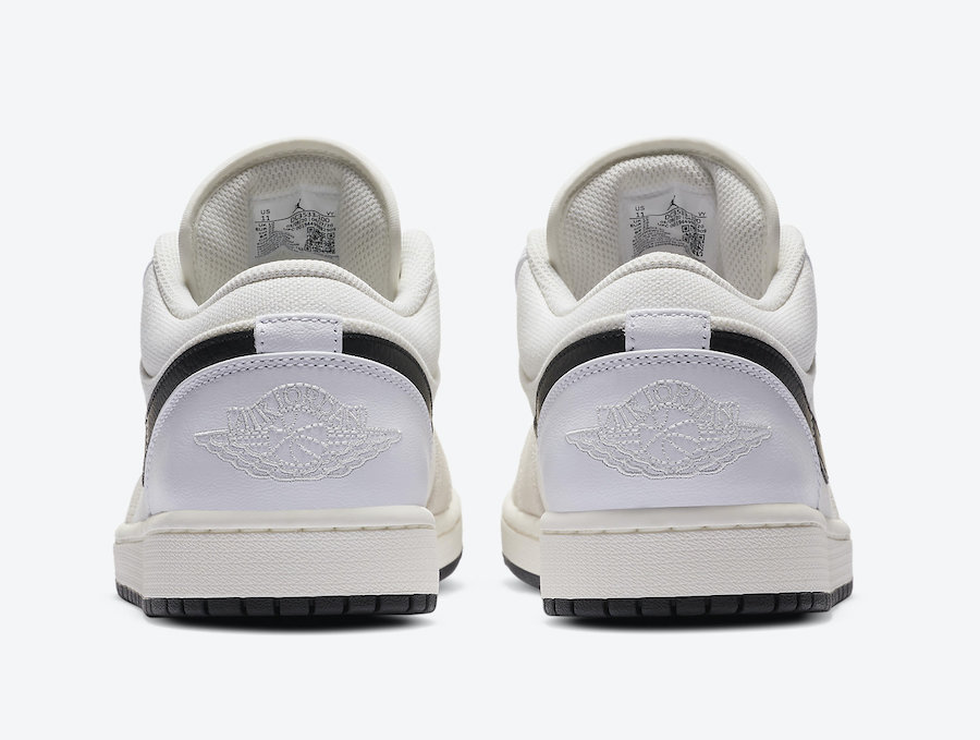 Air Jordan 1 Low White Sail Black DC3533-100 Release Date Info