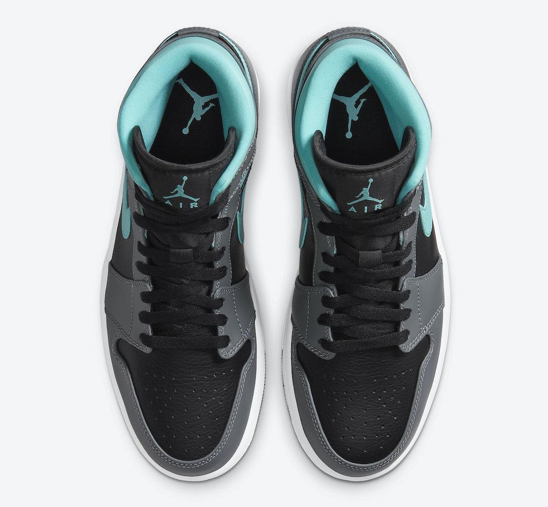 Air Jordan 1 Mid Black Grey Aqua Blue 554724-063 Release Date Info
