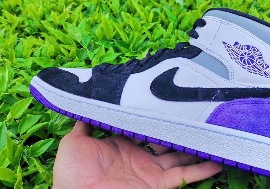 Air Jordan 1 Mid Purple Black Release Date Info