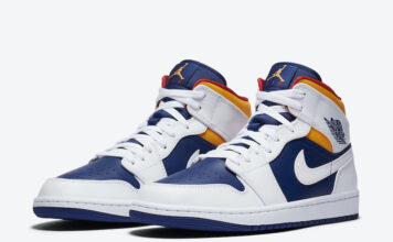 Air Jordan 1 Mid Royal Blue Laser Orange 554724-131 Release Date Info