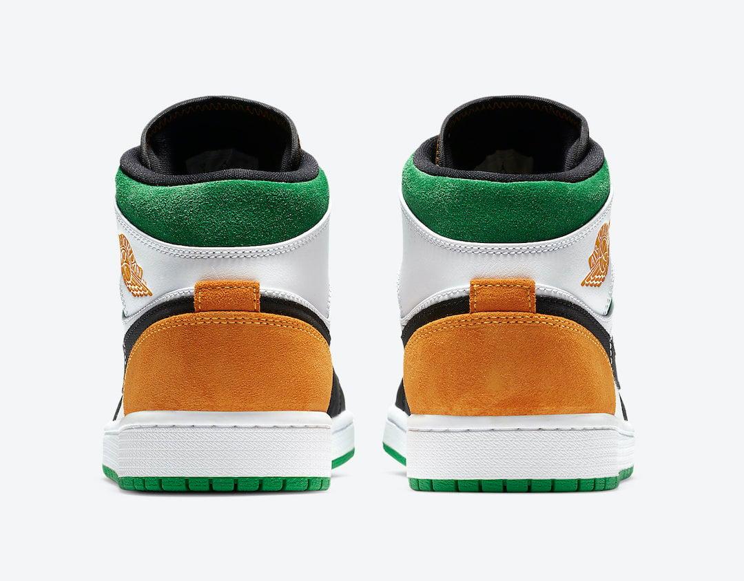 Air Jordan 1 Mid SE White Black Green Yellow 852542-101 Release Date Info