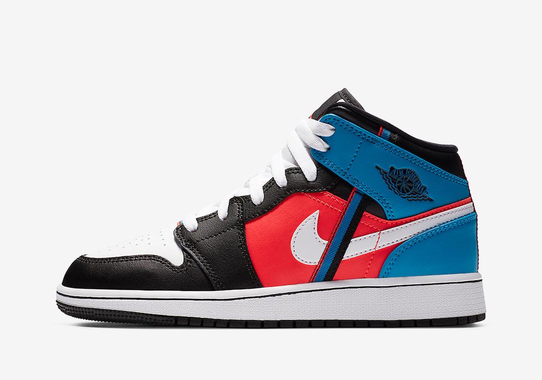 Air Jordan 1 Mid White Black Crimson Blue CV4891-001 Release Date Info