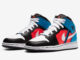 Air Jordan 1 Mid White Black Crimson Blue CV4891-001 Release Date Info