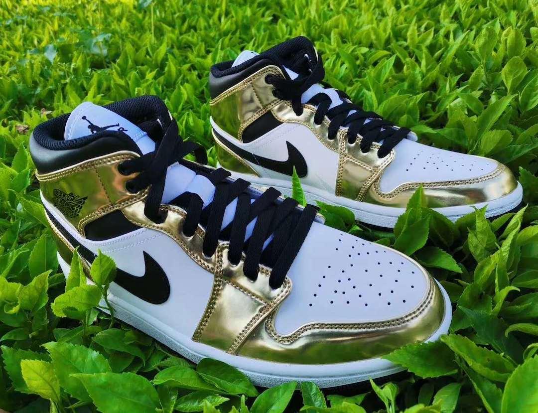 Air Jordan 1 Mid White Metallic Gold Release Date Info