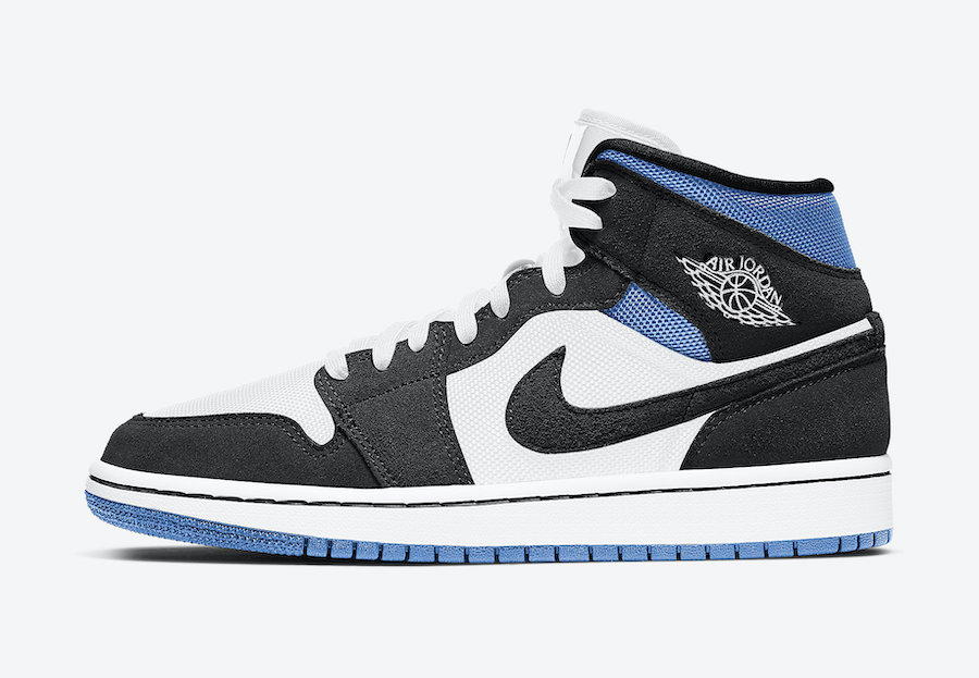 Air Jordan 1 Mid WMNS Royal Black White BQ6472-102 Release Date Info
