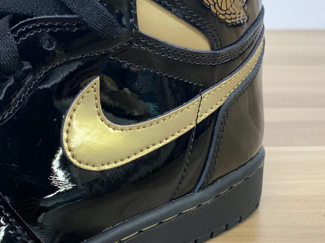 Air Jordan 1 Patent Leather Black Gold 555088-032 Release Date Price