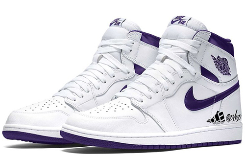 Air Jordan 1 WMNS White Court Purple 2021 Release Date