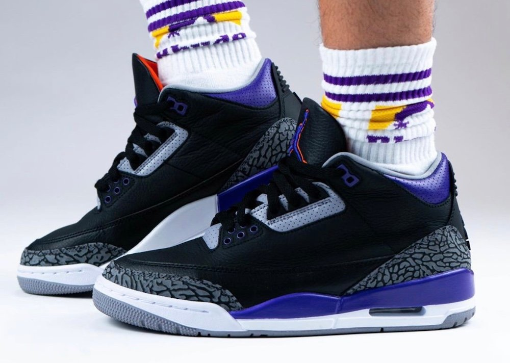 Air Jordan 3 Court Purple Suns CT8532-050 On Feet