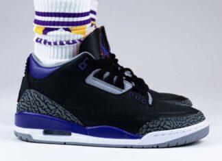 Air Jordan 3 Court Purple Suns CT8532-050 On Feet