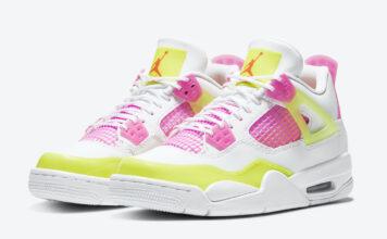Air Jordan 4 GS Lemon Venom Pink Blast CV7808-100 Release Info