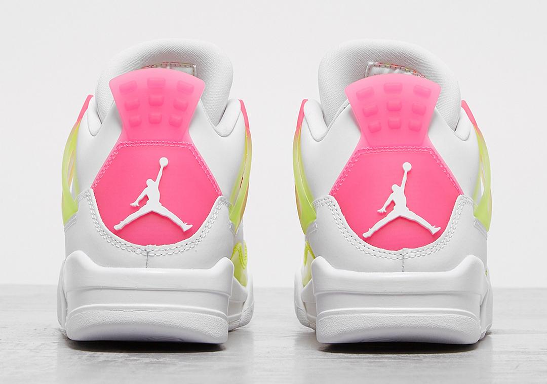 Air Jordan 4 GS Lemon Venom Pink Blast CV7808-100 Release Date Info