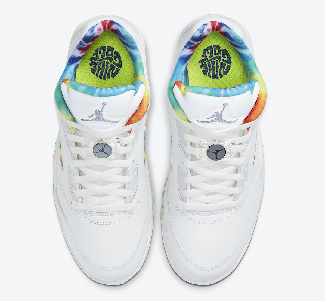 Air Jordan 5 Low Golf Tie-Dye CW4205-100 Release Date Info