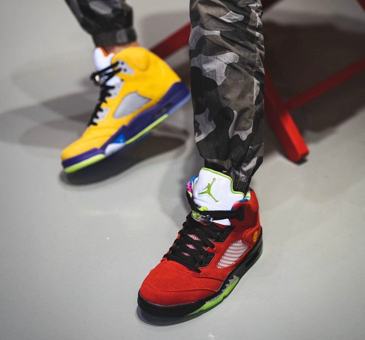 Air Jordan 5 What The CZ5725-700 On Feet
