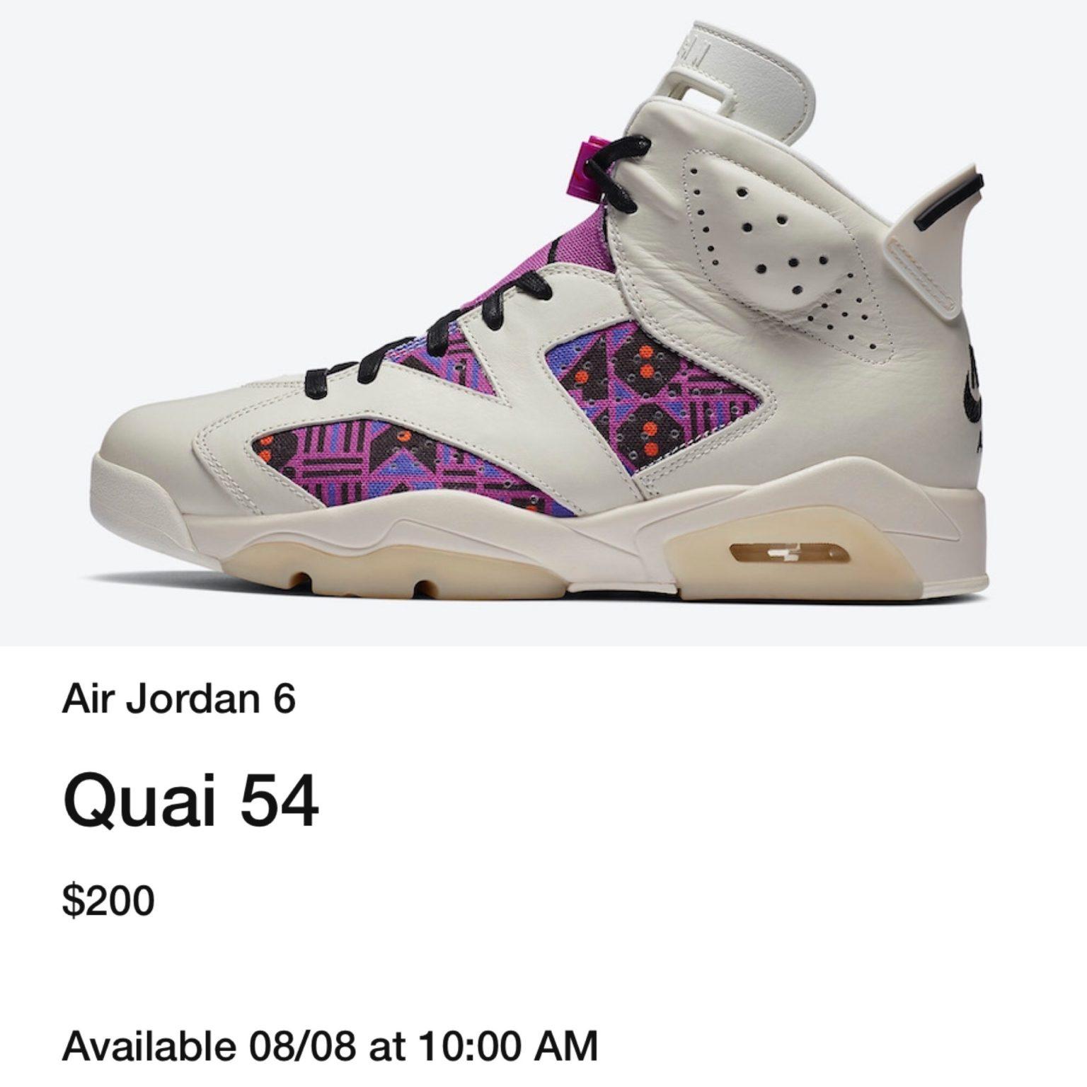 Air Jordan 6 Quai 54 CZ4152-101