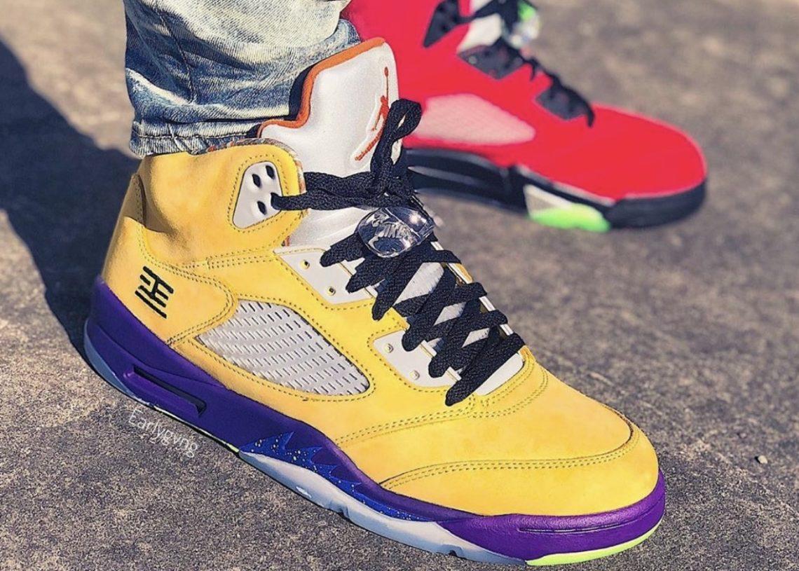 Air Jordan What The 5 On Foot