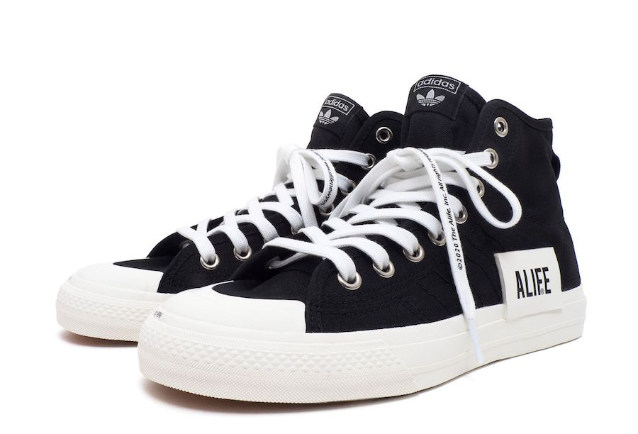ALIFE adidas Nizza High Black Release Date Info