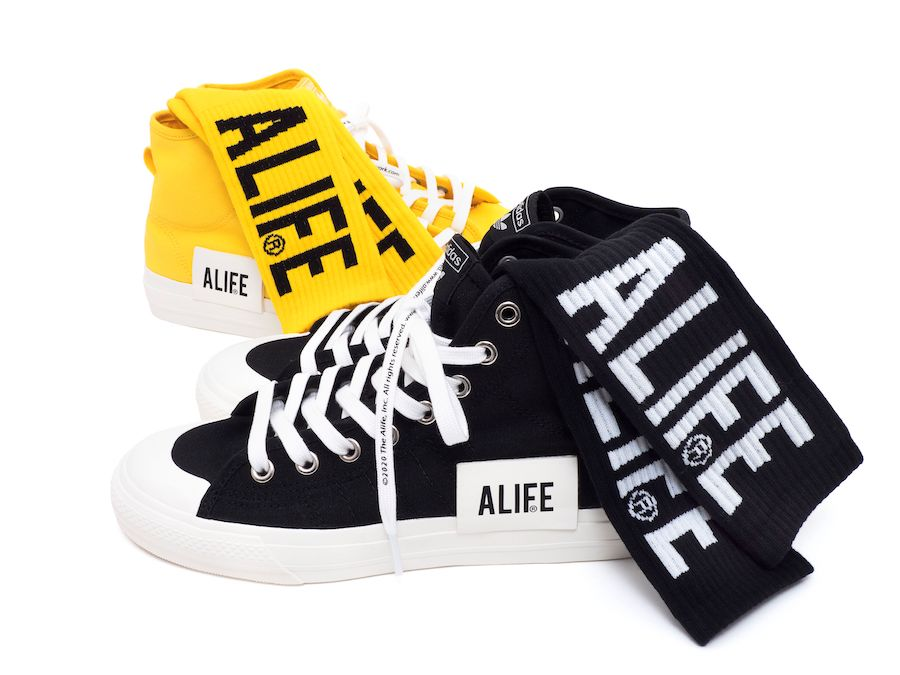 ALIFE adidas Nizza High Black Yellow Release Date Info