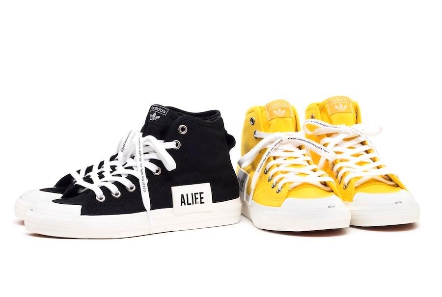 ALIFE adidas Nizza High Yellow Black Release Date Info | SneakerFiles