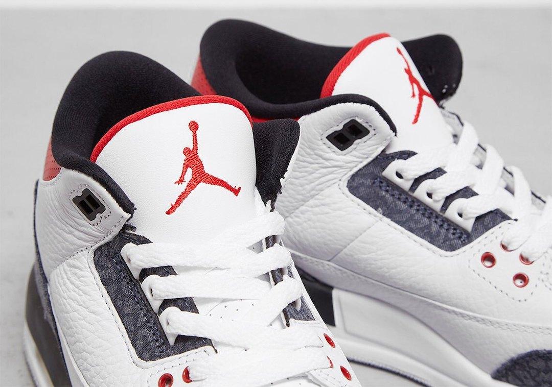 Fire Red Air Jordan 3 Denim CZ6431-100 Release Date