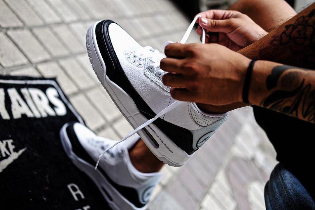 Fragment Air Jordan 3 DA3595-100 On Feet