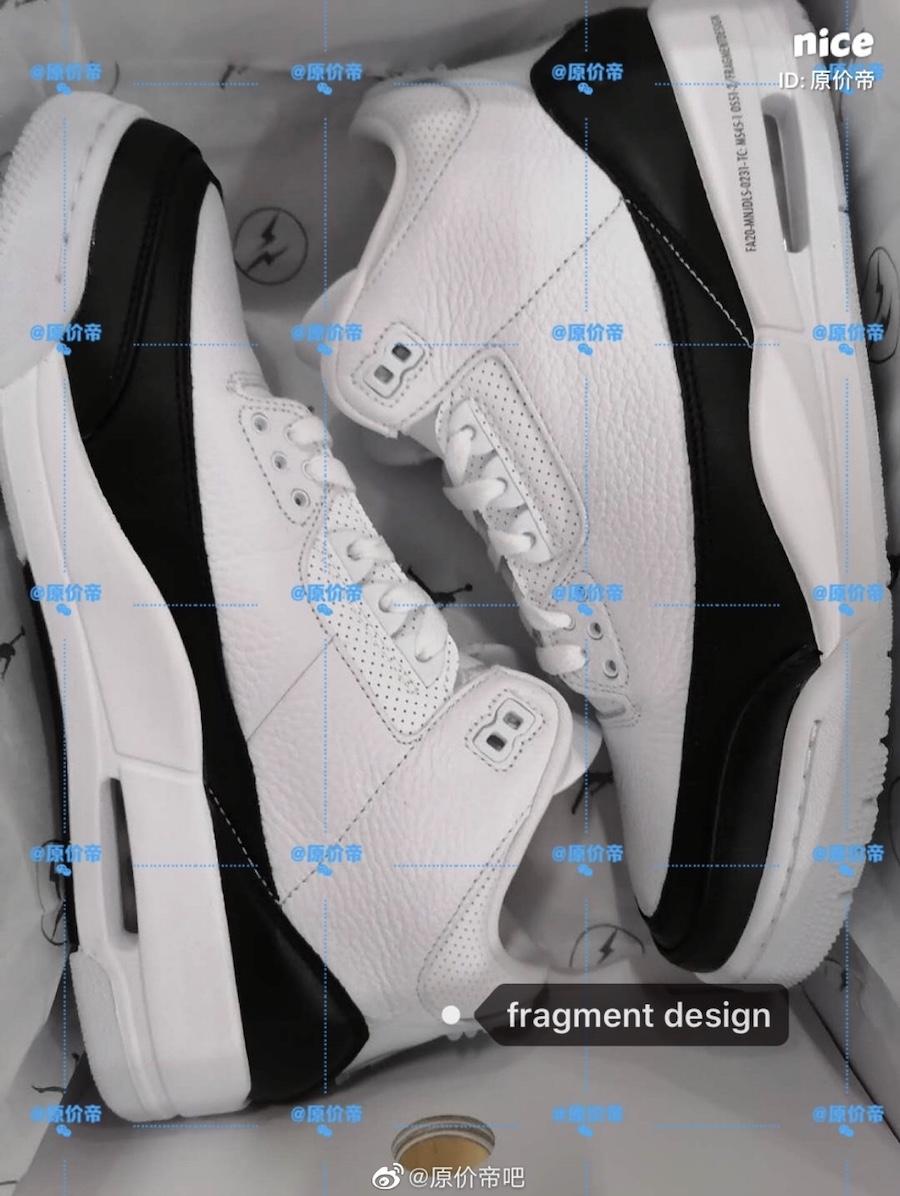 Fragment Air Jordan 3 White Black DA3595-100 Release Date