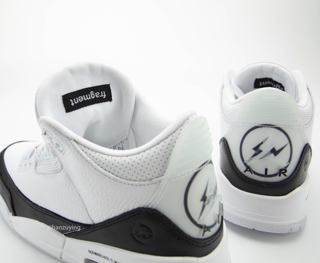 Fragment Air Jordan 3 White Black DA3595-100 Release Price